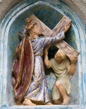 Mariazell - Jesus under the cross - ceramic cross-way
