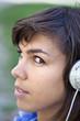 Jeune, fille, femme, musique, détente, MP3, écoute, belle