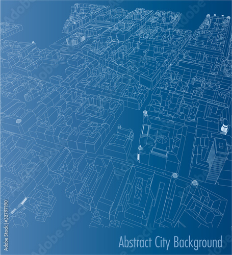 abstract city back