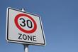 Verkehrsschild 30er Zone I