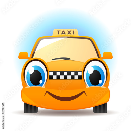 Keuken foto achterwand Cars Funny taxi