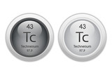 Technetium - two glossy web buttons