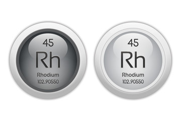Rhodium - two glossy web buttons