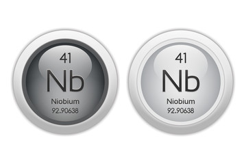 Niobium - two glossy web buttons