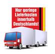 truck button nur geringe lieferkosten innerhalb deutschlands