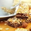 Müsliriegel mit Schokolade