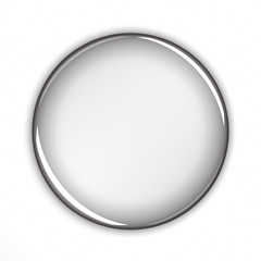 Blank button over white background