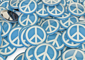 Peace symbol badges