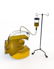 Intravenous drip for euro
