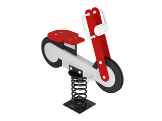 Motorcycle spring toy