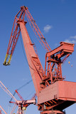 Red dockside crane