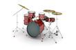 Leinwanddruck Bild - Drums (isolated)