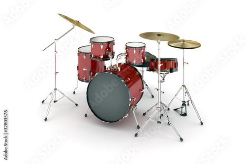 Leinwanddruck Bild Drums (isolated)
