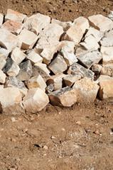Stones barricade