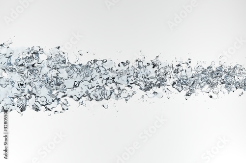 Clean water on white background