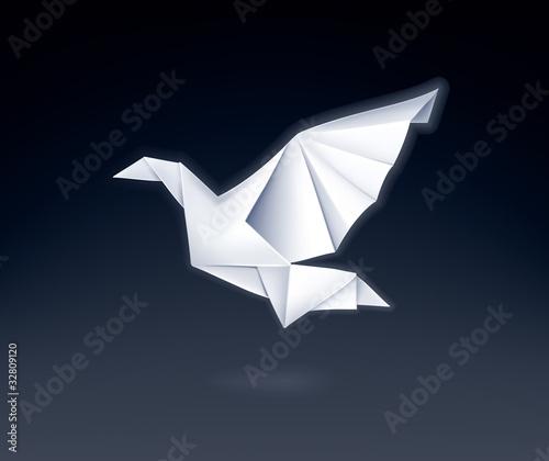 Staande foto Geometrische dieren Paper Dove