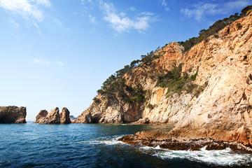 Costa Brava coast landscape
