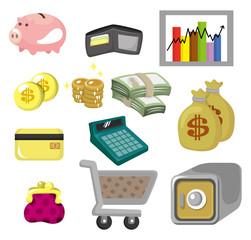cartoon Finance & Money Icon set