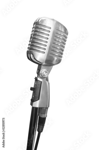 XXL size, Retro Microphone with clipping path