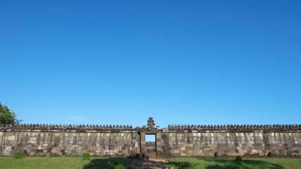 the audience hall of ratu boko palace complex
