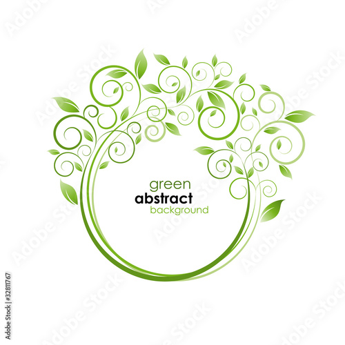 Green generation background # Vector