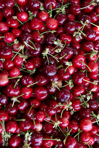 hand picked organic cherries