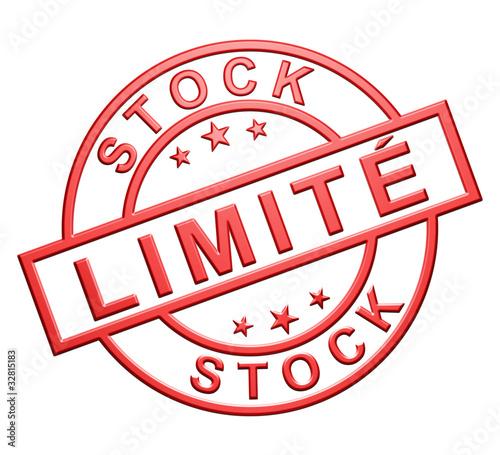 """""""Stock Limité"""" Cachet"""