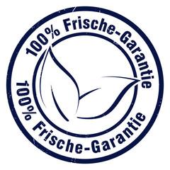 100% frische-garantie frischegarantie stempel