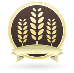 etiquette épis de blé jaune et marron