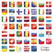 Europa Flaggen Fahnen Set Buttons Icons Sprachen schatten 1