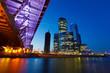 Fototapete Blau - Brücke - Gebäude