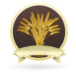 etiquette gerbe de blé