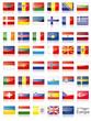 Europa Flaggen Fahnen Set Buttons Icons Sprachen schatten 2