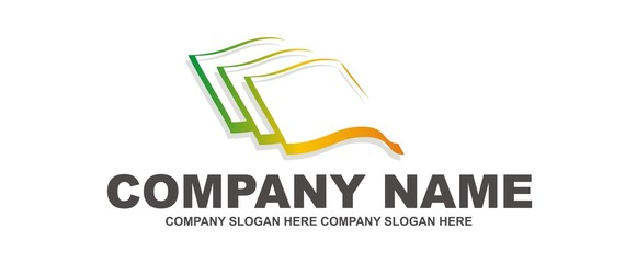 Company logo - book, tiles