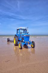 Tracteur à la plage