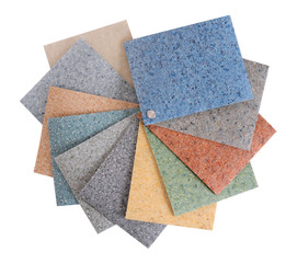Flooring samples. Isolated