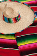 Serape and sombrero as a background