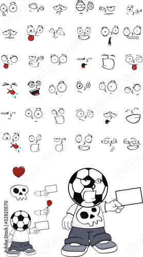 soccer kid cartoon set6