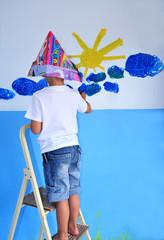 Kind mit Farbe