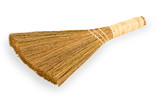 Broom straw on white background