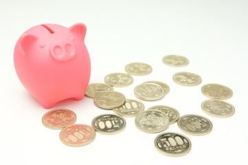 豚の貯金箱500円