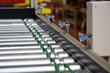 Leinwandbild Motiv Roller conveyer with sensors