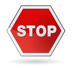 panneau signalétique STOP