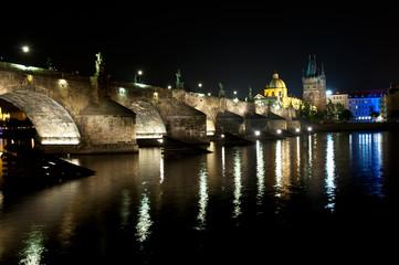 Charles bridge in deep night