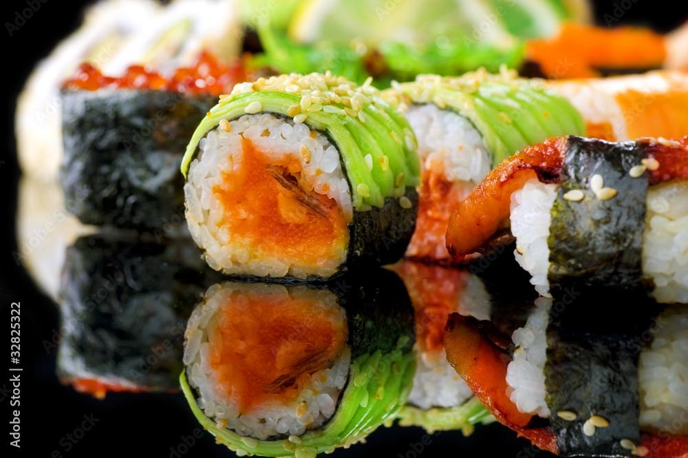 awokado ryż ryba - powiększenie