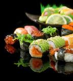 Fototapeta awokado - ryż - Ryba