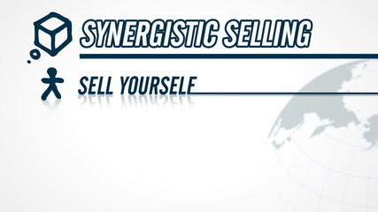 Synergistic Selling video illustration on white in HD