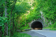 Tunnel with car lights in Great Smoky Mountain National Park