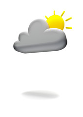 Weather symbol, partly cloudy