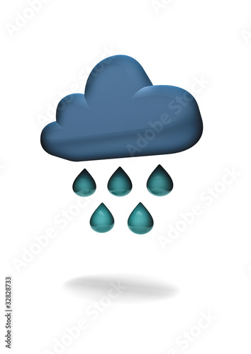 heavy rain weather symbol